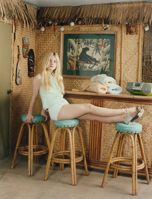 elle fanning for self service by venetia scott noelles