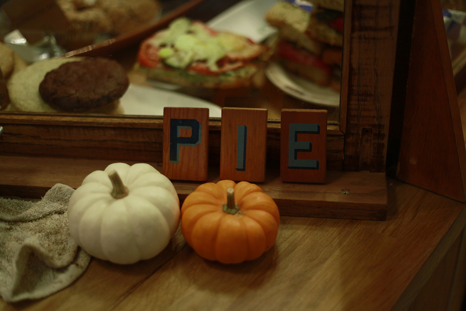 pie and sweaters