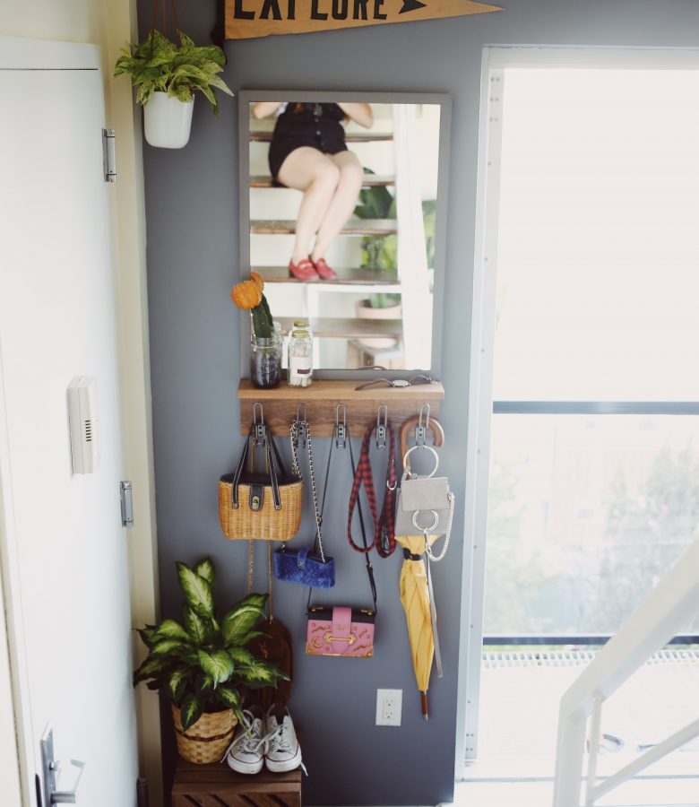 How to create an entryway when you don't have one
