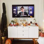 fall living room update plus leaf DIY!