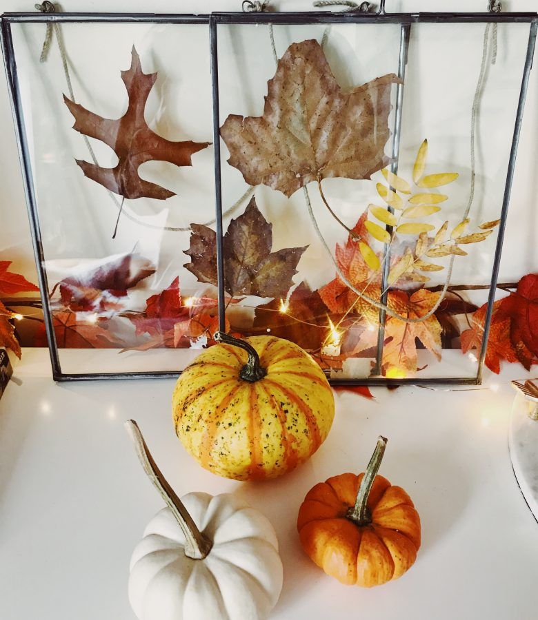 fall living room update plus leaf DIY!