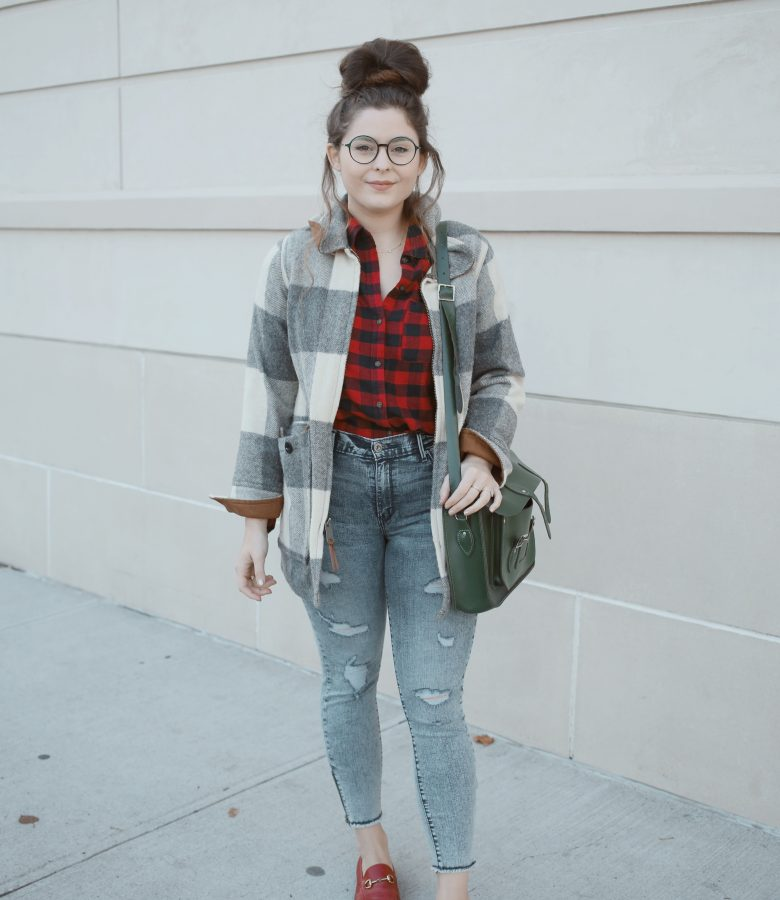 buffalo plaid + denim