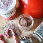 Peppermint hot chocolate floats with Graeter's!